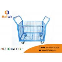 All Type Durable Rigid Logistics Trolley Wire Mesh Roll Cage Four - Wheels