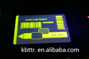 China Yellow p330i uv ribbon on CR80 pvc card on sale