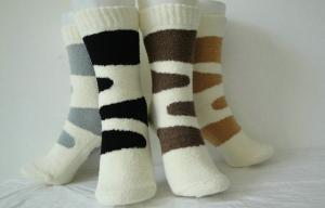 China Multi Cotton Winter Ladies Cashmere Socks for Indoor , 4 - 15 US Size on sale