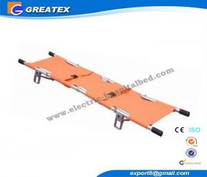 China Portable Emergency Medical Stretcher , Aluminum Alloy Rescue Folding Stretcher on sale
