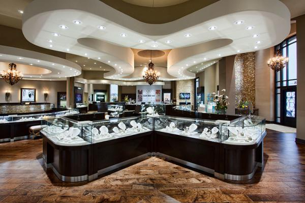 Jewelry Store Interior Design Of Combine Display Cabinets With Glass Counters By Ebony Wood And Stainless Steel Showcas For Sale Jewelry Showcases Manufacturer From China 109035658