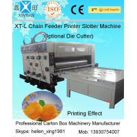 High Speed Packaging Carton Folder Gluer Machine Of Printing Slotting / Feeding System