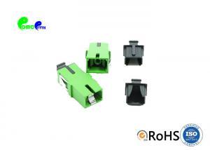 China Simplex APC Fiber Optic Coupler Single Mode Fiber Adapter Without Flange on sale