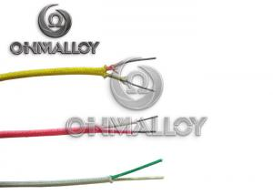 China Fiberglass Braid Insulated Thermocouple Compensation Cable 0.3 X 2mm Type K on sale