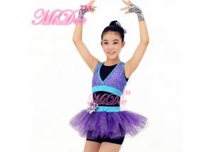 d36bb54bc Sporty Hip Hop Dance Clothes Sequin Vest Glitter Tutu Dress With ...