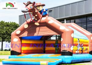 China Giant Cowboy Inflatable Bouncy Castle For Adults And Kids To Celebrate on sale