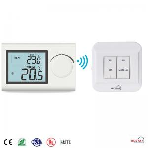 China Wireless Non-programmable Digital Temperature Control Heating and Cooling Bimetal Room Thermostat on sale