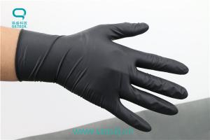 China Black latex gloves that can be bought on the Internet with a good quality of a latex material on sale