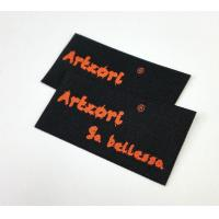 Iron On Clothing Neck Woven Fabric Labels Washable With Straight Cut