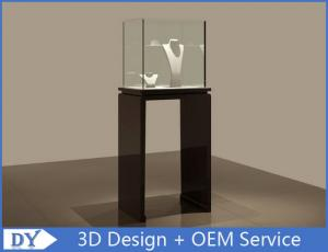 China Se - mi Finished Black Jewelry Display Cases With Lights 450 X 450 X 1200MM on sale