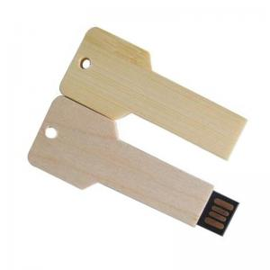 China Promotional Gifts Wooden Key Thumb Drives, Key wood Shaped USB 1GB-32GB Promotion on sale