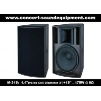 """475W 1.4"""" + 15"""" Full Range Speaker Sound Equipment For Nightclub , Disco , Conference And Church"""