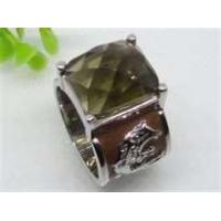 Emerald handmade jewelry Semi Precious Stone Stainless Steel  Rings  with gold Plating