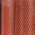 Red PVC Coated Expanded Metal Mesh Decorative With 0.30-5.0mm Thickness