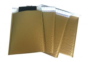 Quality Fashionable Gold Matt Aluminum Metallic Foil Bubble Mailers Shipping Gift for sale