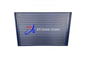 China 500 Flat Oil Shale Shaker Screen / Steel Sieve Mesh For Drilling Waste Management on sale