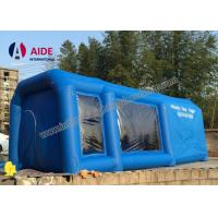 Mobile Used Inflatable Paint Booth , Gray Environmental Car Painting Tent
