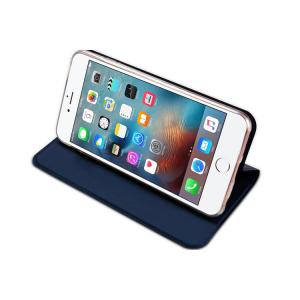 China Slim Iphone Flip Cover Dark Blue , Iphone 5 Leather Case Magnet Kickstand on sale