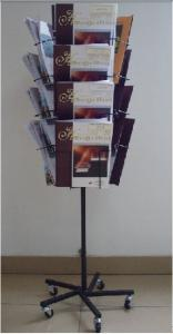 China RHBS002 brochure display stand, book exhibition stand, magazine display rack on sale