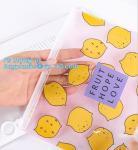 Slider zipper Clear pvc bag for package Vinyl transparent pvc bag cosmetic packing, bottom gusset slider ziplock printed