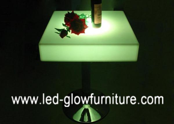 Bar Furniture Illuminated Cocktail Table Top / Led End Tables For Pub /  Disco / Club Images