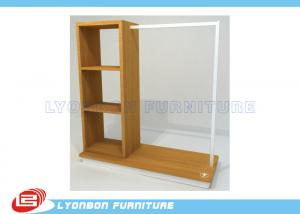 China ISO Multi Functional Clothing Display Racks For Store , MDF Display Shelving on sale