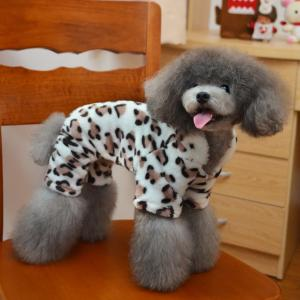 China Fashion Leopard 100% cotton XXL, L, M Personalized Dog Clothes supplier