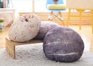 China Creative Stone Floor Pillows , Simulation Stone Shaped Pillows For Decorative on sale