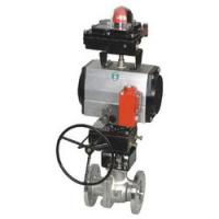 Air actuated stainless steel ball valves with rack and pinion pneumatic actuators,actuated ball valve,flanged ball valve
