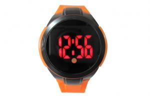 China Big Face Silicone Digital LED Watch , Shockproof Countdown Wrist Watch on sale
