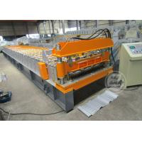 China 0.6-0.9MM Cold Rolled Roof Sheet Profile Roll Forming Machine Motor Power 7.5KW on sale