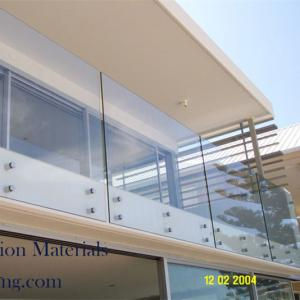 Frameless Standoff widely used glass railing for decking/balcony