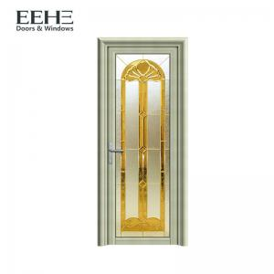 China Modern Aluminium Frosted Glass Doors / Luxury Grey Aluminium Patio Doors on sale