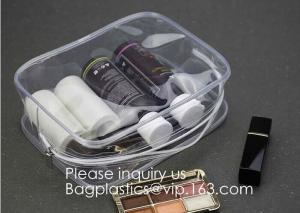 China Clear Travel Toiletry Bag PVC Waterproof Cosmetic Makeup Bags Organizer With Handle See Through Plastic Clear Case on sale