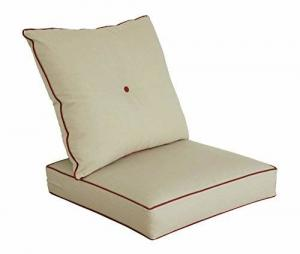 China Cushions for Patio Furniture Outdoor Water Repellent Fabric Deep Seat Pillow and High Back Design Modular sofa Cushions on sale