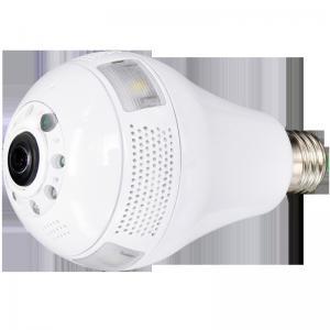 China Audio 360 degree camera night vision wifi ip fisheye light bulb security cctv surveillance camera with digital camera on sale