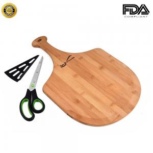 China High-Grade Pizza Peel Pizza Paddle with Pizza Scissors Cutting Board for Cheese, Meat & Veg on sale