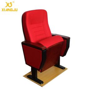 China High Pressure Plywood Armrest Red Folding Auditorium Chairs 5 Years Warranty on sale