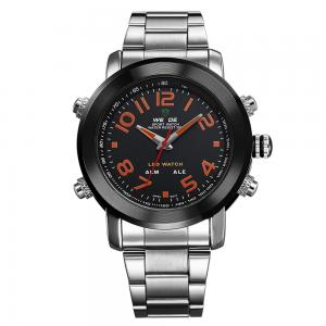 China 2014 3ATM Stainless Steel Wristwatch Watches Men LED Luminous Analog Digital watches on sale