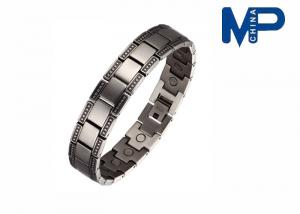 China Customizable Fashionable magnetic titanium metallic bracelets for girls on sale