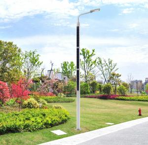 China Unique 15000LM Stand Alone Solar Powered intelligent Street Light Pole on sale