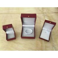 Red Leather Jewellery Necklace Gift Box / Engagement Display Case
