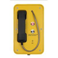IP67 Marine Auto Telephone With Indicator Light , Mining SOS Industrial Intercom System