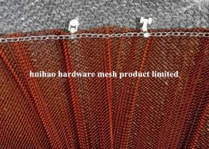 China 6 Meter Width Copper Plated Metal Mesh Drapery with Track For Room Divider on sale