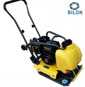 China 5.5HP Walk Behind Gasoline Vibratory Plate Compactor For Building Foundation on sale