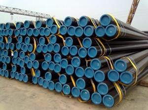 China ASTM A53 / API 5L PSL1 / HR ERW Steel Pipe / Steel Pipe ERW For Drainage Gas , Slurry And Fluid on sale