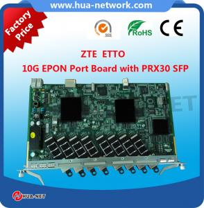 8 PON Ports ZTE 10GEPON OLT Board Card ETTO with Class 10G EPON SFP