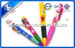 China 18cm Jumbo Mechanical Ball Point Pens With Butterfly Picture , Plastic Ball pen on sale