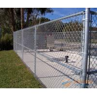 China Chain Link Wire Metal Fence Stainless Steel 30-100mm Mesh Stadium Security on sale