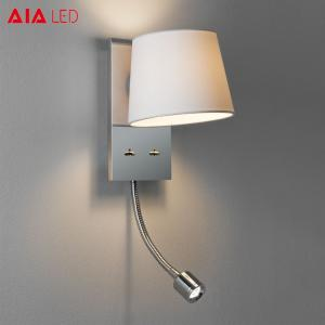 China Recessed mounted lamp shade E27 led reading wall light 3W led bedside wall lamps for villa projects on sale